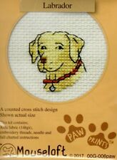 14ct Counted Cross Stitch Kit - Mouseloft - Paw Prints - Labrador Dog counted