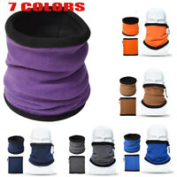 Outdoor Sports Winter Thermal Fleece Ski Balaclava Neck Mask Cap Hat Scarf