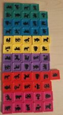 1990s Mandarin Board Game spare replacement parts colored ANIMAL TILE