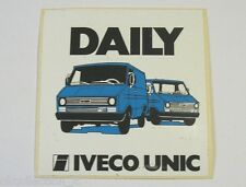 VECCHIO ADESIVO / Old Sticker IVECO DAILY UNIC (cm 9,5 x 10)