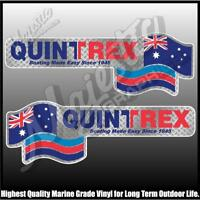 QUINTREX - 450mm X 150mm X 2 - LEFT & RIGHT PAIR - BOAT DECALS