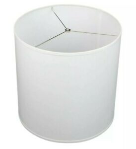 Fenchel Shades 18 in W. x 18 in. D x 18 in. H Drum Lamp Shade - Linen White