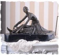 Antik Bronze Art Deco Skulptur Frauenfigur 20er Jahre Bronzeskulptur Tänzerin