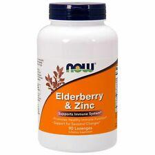 Now Foods ELDERBERRY & ZINC 90 Lozenges Sambucus, Echinacea IMMUNE ANTIOXIDANT