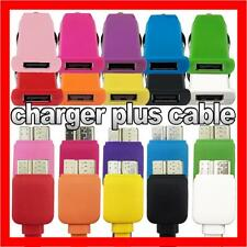 Colour Car Charger + USB 3.0 Cable Adapter for Samsung Galaxy S5 Note 3 N9000 SV