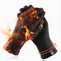 1Pair Men Full Finger Glove Thermal Knitted Winter Warmer Cold Mitts Touchscreen