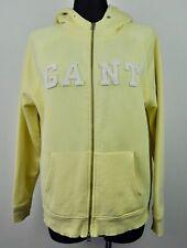 GANT Women's 2XL Cotton Jumper Hooded Sweater Zip Up Bright Yellow Ladies Top