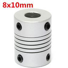 8mm x  10mm Aluminum Flexible Shaft Coupling OD19mm x L25mm CNC Stepper Motor Co
