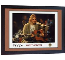 Kurt Cobain Nirvana signed autograph PHOTO print FRAMED