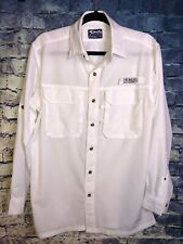 Only One On Bimini Bay Button Down Long Sleeve Shirt Men's Size Small White🔥
