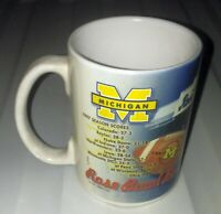 Michigan Wolverines Rose Bowl Bound 1997 National Champions Coffee Mug Cup