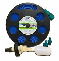 Mains Water ADAPTER for Aquaroll Container with 10m FLAT HOSE on REEL