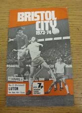 08/09/1973 Bristol City v Luton Town  (Creased)