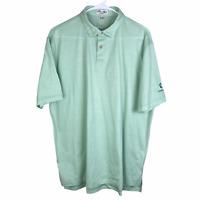 Peter Millar Nanoluxe Polo Shirt Large Mint Green Short Sleeve Cotton Oldcastle