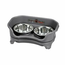 Neater Feeder Express (Cat, Gunmetal) - with Stainless Steel, Drip Proof, No Tip