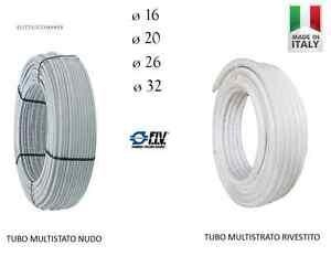 Tubo Multistrato Nudo o Rivestito 16 20 26 32 Pex/Al/Pex Rotoli 10 20 30 40 50