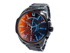 *NEW* Diesel Men's Mega Chief DZ4318 Black Automatic Watch
