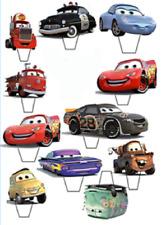 "12 x 3"" Disney Cars Lightening McQueen EDIBLE CUPCAKE TOPPER STAND UP PRE - CUT"