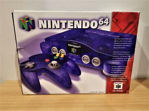 Nintendo 64 (N64) Console - Grape Purple  - BOX ONLY-- NO CONSOLE