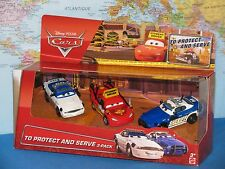 DISNEY PIXAR CARS TO PROTECT AND SERVE 3 PACK DRIVING SCHOOL McQUEEN, MIKE, DIDI
