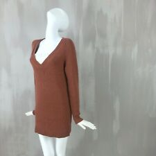 Dries Van Noten Wool Camel Silk Knit Long Jumper Sweater Pullover Dress Size XS