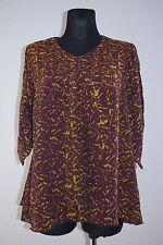 Geometrische Damenblusen, - tops & -shirts mit V-Ausschnitt aus Viskose