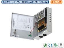 RACK BOX ALIMENTATORE STABILIZZATO A COMMUTAZIONE 4 USCITE DC12V CCTV