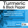 Turmeric and Black Pepper Capsules 100% Natural Tumeric Tablets x 360 tablets