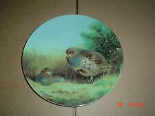 Bradford Exchange Collectors Plate PARTRIDGES ON A SUMMER HEATH