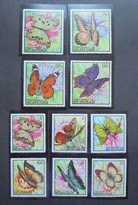 #407 1968 Republique Du Burundi Stamps   Butterflies   2 sets    MNH and perfect