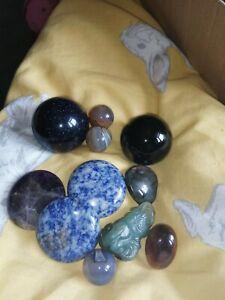 Joblot Of Gemstones Such As Obsidian, Amethyst, Druzy Etc