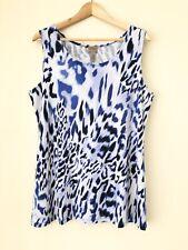Chicos Easywear Blue Animal Print Layering Tank Top Women Medium Size 1