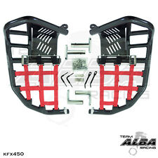Kawasaki KFX 450 KFX450  Nerf Bars   Pro Peg  Heel Guard Alba Racing Black Red