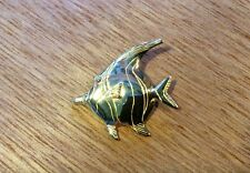 Solid 14K Gold large Heavy , Salt Water Angelfish Angel Fish Pendant