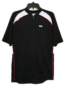 Louis Garneau Cima-2 jersey - full-zip men's size L/G - black, white and red