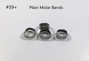 2~50Bags Molar Plain Band Rough Inner Dental Bracket Orthodontic Bands #39+
