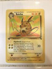 New listing Pokemon Raichu 1st Edition Fossil Pack Fresh Psa 10? 1999 Card #29 Non Holo Rare