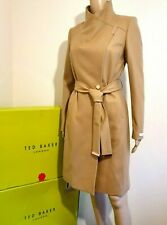 TED BAKER SANDRA CAMEL WOOL CASHMERE WRAP COAT UK 12 TED 3 USA 8 BNWT RRP£329.00