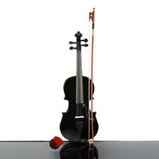 New 3/4 Size Acoustic Violin with Case Bow Rosin Black Color for Xmas Kids Gifts