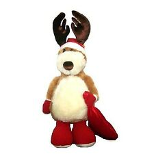 "Benny Santa Reindeer Plush Russ Berrie 25"" Stuffed Animal Christmas Brand New"