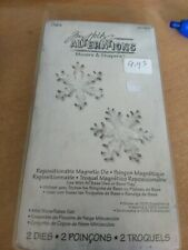 SIZZIX REPOSITIONABLE MAGNETIC DIE /2 DIES/ NO.657474 NEW