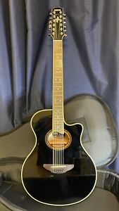 Yamaha APX700II Natural 12-String Electric-Acoustic Guitar - Black
