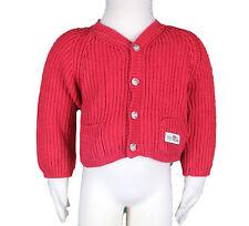 JACADI Boys Liston Tomato Red Button Up Knit Cardigan Sz 6 Months NWT $46