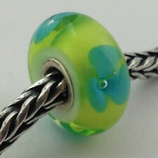 Authentic Trollbeads Turquoise Flower Charm 61322, New