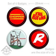 "RALEIGH CHOPPER Mk2 Love 70's Vintage Retro-1"" Badge x4 Badges NEW - Set 2"