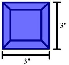 Colored Bevels for Stained Glass - 3x3 Bevels - Box of 30 - BLUE