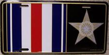 Aluminum Military License Plate Medal Silver Star NEW