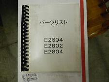 Hinomoto E2604, 2802, 2804 Tractor Parts Manual