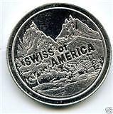 "1oz .999 SILVER BULLION COIN BAR: SwissAmerica ""RARE"" - Free Gold Vials*"