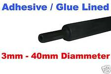 6mm ADHESIVE / GLUE LINED BLACK HEATSHRINK HEAT SHRINK